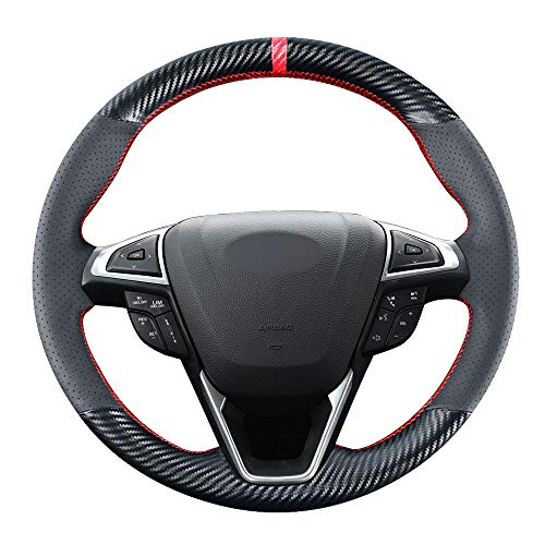 Carkooler DIY Stitching Carbon Fiber Steering Wheel Cover for...