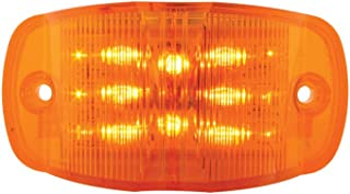 Grand General 76250 Amber Rectangular Camel Back Wide Angle 14-LED Marker and Clearance Sealed Light