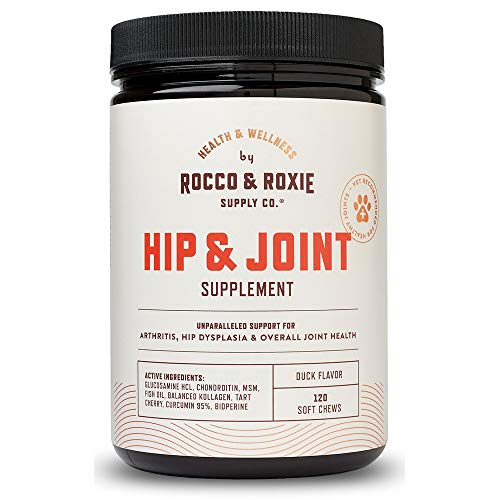 Rocco & Roxie Glucosamine for Dogs - Hip and Joint Supplement with Chondroitin Plus MSM - Maximum Strength Dog Arthritis Pain Relief Support - Chewable Pet Supplements - 120 Soft Chews Treats