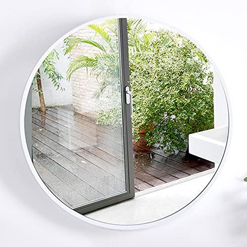 GETZ Espejo Redondo, Espejo de Pared para Cuarto de Baño Marco de Metal para Sala de Estar, Entrada, Dormitorio, Baño, Espejos Decorativos Modernos