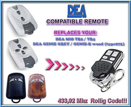 DEA MIO TR2/DEA MIO TR4 Mando a distancia de repuesto/433,92 Mhz código de rodillo