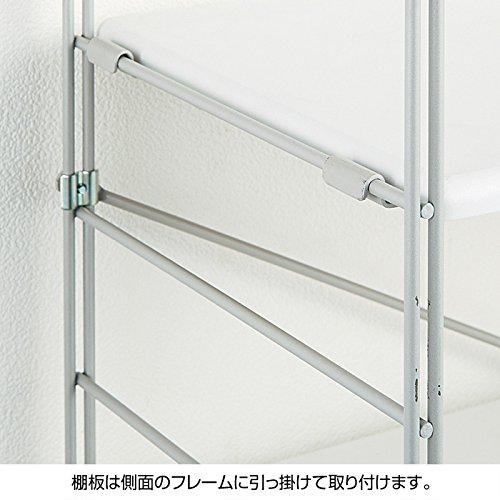 『ニッセン ラック付ワーキングテーブル/サイズ【122cm幅高さ165cm】 / 色【白】』の2枚目の画像