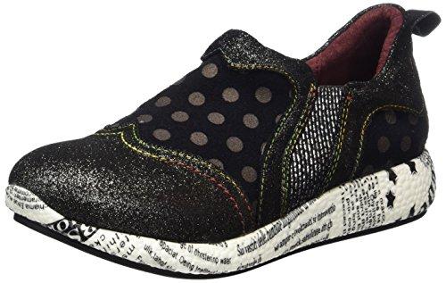 Laura Vita Women's Burton 02 Sneaker, Black Noir, 5.5