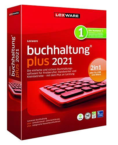 Lexware buchhaltung 2021|plus-Version Minibox (Jahreslizenz)|Einfache Buchhaltungs-Software für Freiberufler|Kompatibel mit Windows 8.1 oder aktueller|Plus|1|1 Jahr|PC|Disc