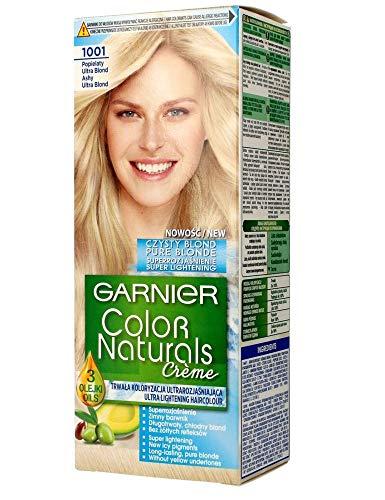 GARNIER - COLOR NATURALS Creme - Permanent, nourishing hair coloring - 1001 Ashy, Ultra Blond