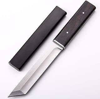JU D2 Blade Full Tang Tactical Army Survival Camping Knife Ebony Handle Hunting Outdoor Knife 60 HRC Japanese Style Katana