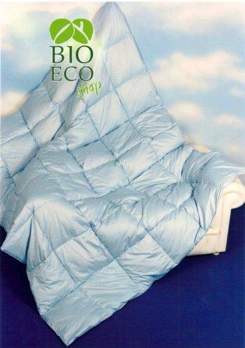 BIOECOSHOP Piumino 4 Stagioni 100% Oca Bianca Bioeco Peso 90-160 Gr/Mq Mis 200X210 Cm 1 Piazza e 1/2 Made In Italy