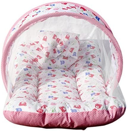 Amardeep and Co Toddler Mattress with Mosquito Net (Pink) - MT-01-Pink product image