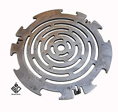 Becker Design Grillrost 6mm für Feuerplatte   Plancha   Grillplatte mit 20cm Feuerloch