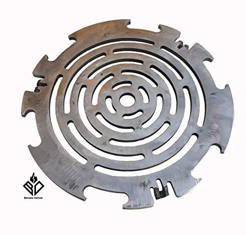 Becker Design Grillrost 6mm für Feuerplatte | Plancha | Grillplatte mit 20cm Feuerloch