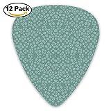 Etite Flowers Duck Egg Blue Wallpaper Guitar Picks For Electric Guitar 12 Pack