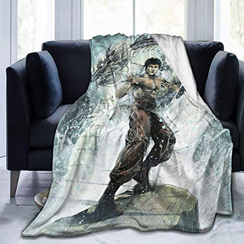 N \ A Bru-ce L-ee 23 - Manta de forro polar ultra suave, para decoración del hogar, 20 x 60 pulgadas