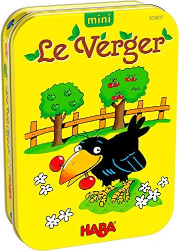 HABA- Théo Le Corbeau Mini verger société-Jeu coopératif-Petit Format-3 Ans et plus-305897, 305897, Coloré
