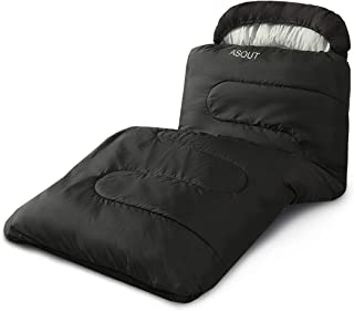 ASOUT Sleeping Bag for Adults and Kids - Portable, Comfort, Extra-Wide Car Camping, Hiking, Backpacking, Great for 4 Seaso...