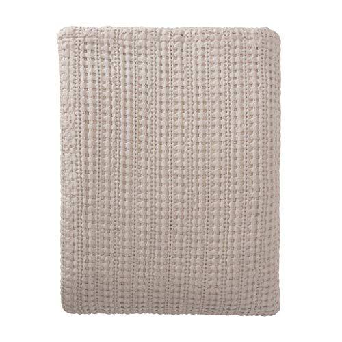 URBANARA Tagesdecke Anadia - 180x230 cm Natur 100% Reine Baumwolle, Decke im strukturierten Jacquard