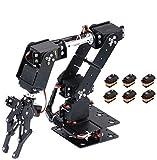 MBEN Arduino, mecánica de Bricolaje, 6DOF Brazo Libre Conjunto robótico, Metal de la aleación Kit de la mandíbula mecánica robótica, Stem Juguete Educativo para los Coches de Arduino,6PcsMG996