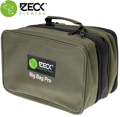 Zeck Rig Bag Pro 29x19x18cm - Tackletasche + Tacklebox für Angelzubehör zum Wallerangeln, Angeltasche für Kleinteile & Vorfächer
