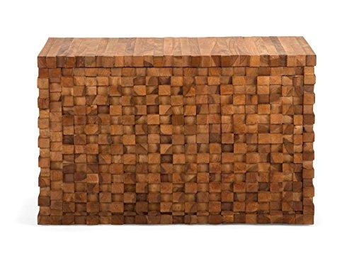massivum Truhe Abadi 80x50x45 cm Palisander braun lackiert - 9