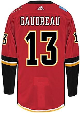 1d6b9b66fea Johnny Gaudreau Calgary Flames Adidas Authentic Home NHL Hockey Jersey