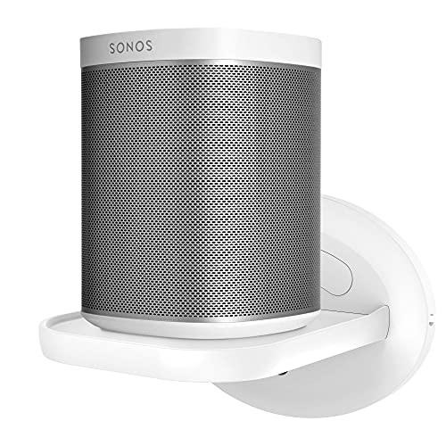 PlusAcc Supporto a Muro per Ech0 4, Sonos, HomePod Mini, Google Home, Nest Wifi e Altoparlanti Intelligente Mensola da Supporti, Soluzione Salvaspazio fino a 15Ibs (Bianco)