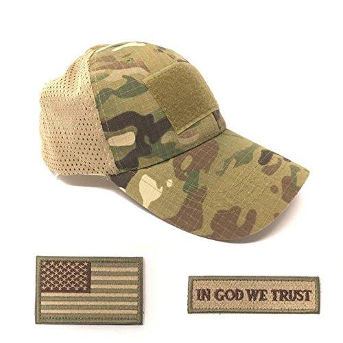 Emproda Mesh Tactical Cap Bundle with USA Flag Patches, Durable...