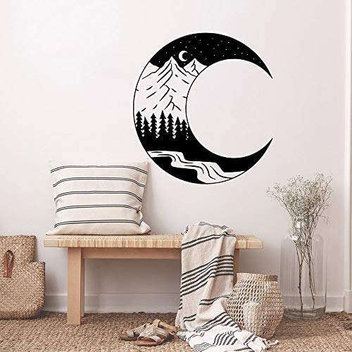Tianpengyuanshuai Mond Nacht Wandaufkleber Baby Zimmer Wandbild Wohnzimmer Schlafzimmer Dekoration 63X216cm