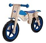 M-Wave Moto Bicicleta Infantil de Madera, marrón, 12''