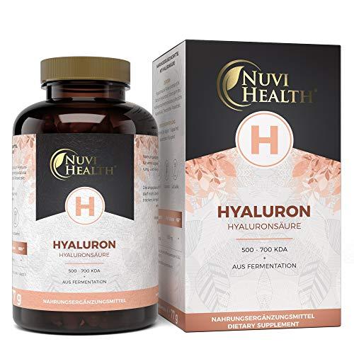 Hyaluronsäure Kapseln - Hochdosiert mit 500 mg - 100 Kapseln - 500-700 kDa - Hergestellt durch pflanzlicher Fermentation - Laborgeprüft - Vegan - Premium Qualität