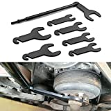 Bestong 43300 Pneumatic Fan Clutch Wrench Set Removal Tool Kit Compatible with Ford GM Chrysler Jeep