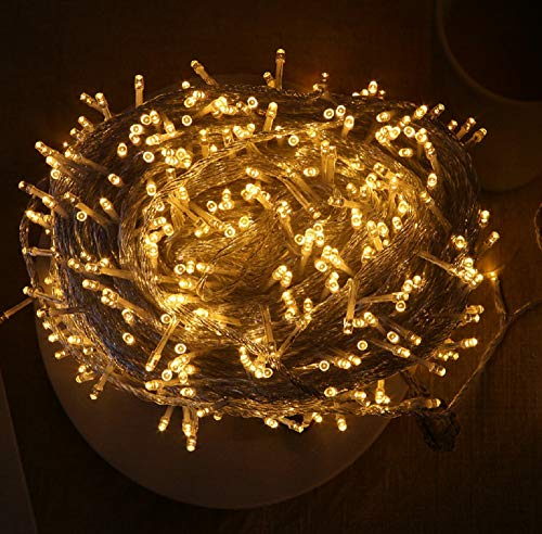 QYL - Cadena de Luces Regulables, 100 m, 600 ledes, Rope Fairy Lighting Waterproof Decoration for Christmas Tree, Garden, Holiday, Party, Wedding, Indoor & Outdoor, Patio