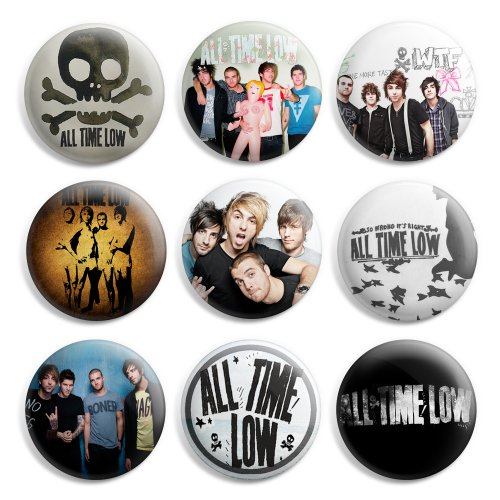 All Time Low Pinback Buttons Pin Badges 1 Inch (25mm) - Pack of 9