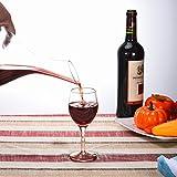 Cooko Wein Dekanter, Premium Kristall Wein Belüften Karaffe, Bleifreie Weinkaraffe, Handgemacht Wein Zubehör in Schräge Form mit 1200 ML - 5