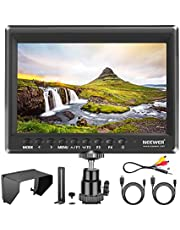 Neewer F100 7-inch 1280x800 IPS Screen Camera Field Monitor with 1 Mini HDMI Cable for BMPCC AV Cable for FPV 16:10 or 4:3 Adjustable Display Ratio for Sony Canon Nikon Olympus (Battery NOT included)