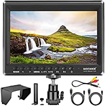 Neewer F100 7 Inch Camera Field Monitor HD Video Assist Slim IPS 1280x800 4K HDMI Input 1080p with Sunshade and Mini Ball Head for DSLR Cameras,Handheld Stabilizer,Film Video Making Rig