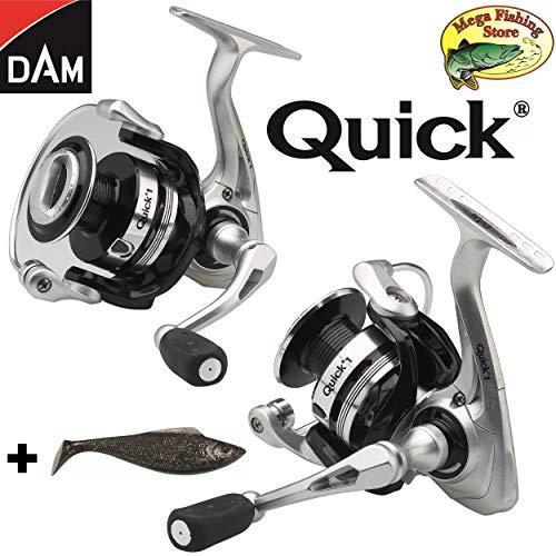 DAM Quick 1 FD Spinrolle/Stationärrolle 1000 bis 8000 - Salzwasser Rolle/Spinnrolle + Glücksbringer (8000 FD - 390m > 0,40mm)