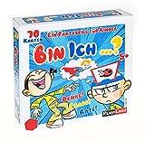 Play Land Bin ich ...? Ratesspiel - Divertido juego de sociedad y preguntas para niños Juego comunitario 2 a 4 personas rompecabezas con anillos cabeza 70 cartas ¡¡Pensa!Rate!