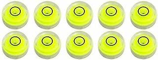 Level Degree Mark - Bubble Level Measuring Tools - Mini Tiny Disc 10x6mm Spirit Surface Level Mark Use for Tripod Camera - 10 Pack