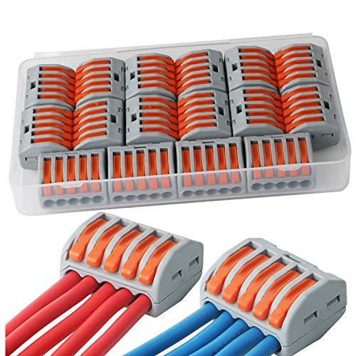 clasificación y comparación Conector CESFON JER con palanca y tuerca, 16 piezas, conjunto de conectores compactos para cables 222-415. para casa