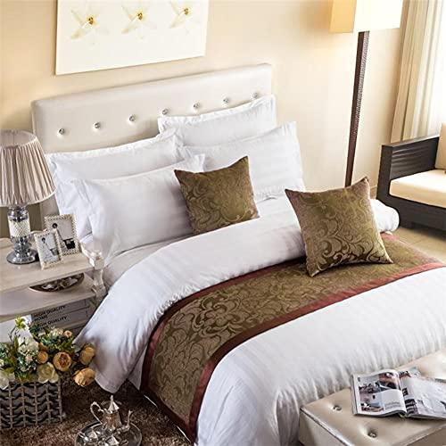 Mrzyzy Bed Runner Suave y Lujoso de Estilo Tobogán de Cama Clásico Europeo Jacquard Teñido en Hilo Elemento Decorativo y Protector para Camas de Habitación de Hotel Retro Colcha de Lujo