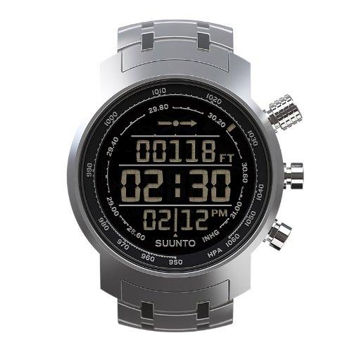 SUUNTO Multifunktionsuhr Armbanduhr 'Elementum Terra' Full Steel - Höhenmesser Kompass Barometer