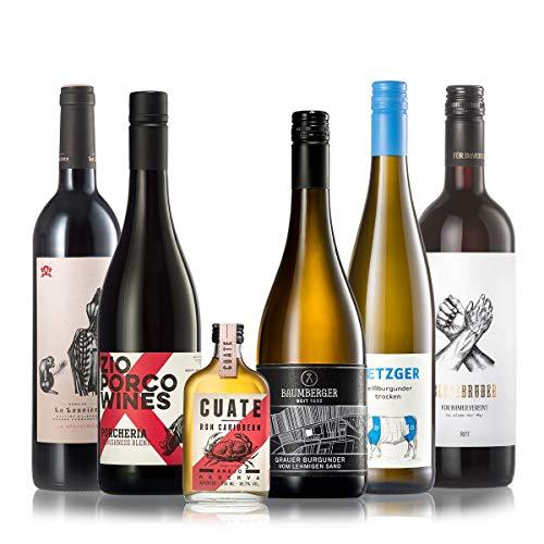 GEILE WEINE Weinpaket MÄNNERWEINE - Bester Weißwein, Rosé und Rotwein, der jedem Mann schmeckt