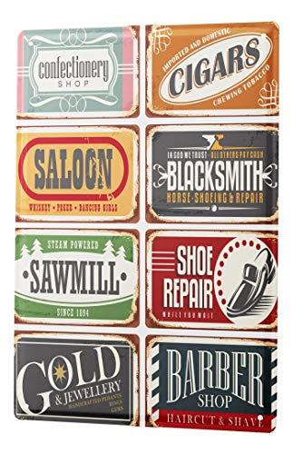 LEotiE SINCE 2004 Plaque en Métal Métallique Poster Mural tin Sign Professionnel Guilde Forgeron de Barber