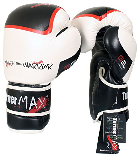 TurnerMAX Boxing Gloves Rexion Mexican White/Black 14oz