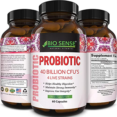 Probiotics and Prebiotics Gut Health Supplements - Advanced Acidophilus Probiotic Supplement for Upset Stomach Relief pH Balance and Digestive Support - Daily Probiotic Immune Support Supplement