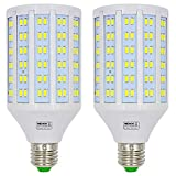 MENGS pack de 2 Bombillas LED E27 25W Lámpara LED (Equivalente 200W Halógena) Blanco Frío 6500K AC 85-265V
