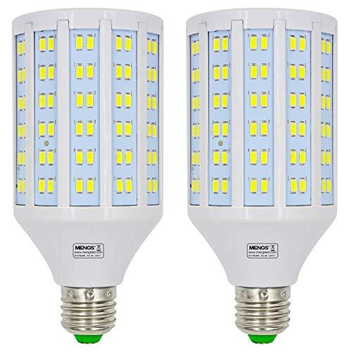 MENGS pack de 2 Bombillas LED E27 25W Lámpara LED (Equivalente 200W Halógena) Blanco Frío 6500K AC 85-265V