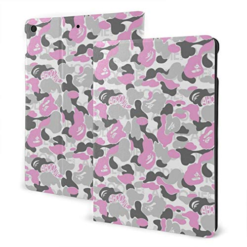 Ipad 2019 7th Generation 10.2 Inch Case, Ipad Air 3 10.5 Inch Case, Camouflage Leather Full Body Protective Covers, Adjustable Stand with Auto Wake/Sleep