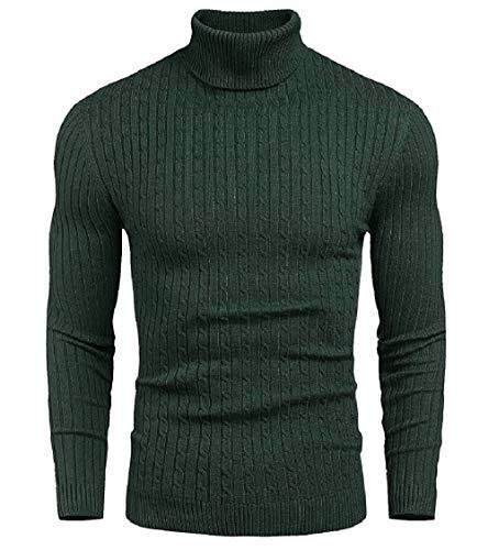 DENIMHOLIC Mens Cotton Turtleneck Sweater