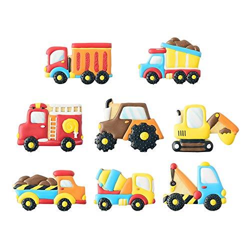 Ausstechformen für Transport/Fahrzeuge mit passenden Plätzchen-Schablonen, Set mit 16–8 Ausstechformen und 8 Schablonen, inklusive LKW, Traktor, Feuerwehrauto, Bagger, Kran, Zementmischer usw.