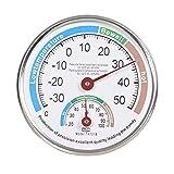 VANTSKITT Termómetro analógico higrómetro de uso múltiple higrotermógrafo de puntero de alta precisión para interior al aire libre (blanco)